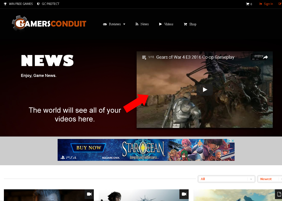 News Anchor Section on GamersConduit.com.